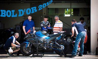 """Project visual Le """"TOME"""" se lance pour le championnat du monde d'endurance moto: le Bol d'Or 2015"""