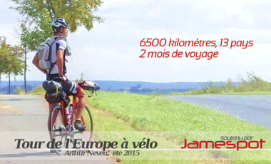 Project visual Tour de l'Europe à vélo