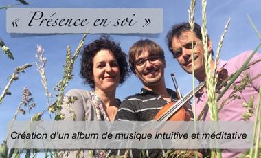 """Visueel van project """"Présence en soi"""" création d'un CD"""