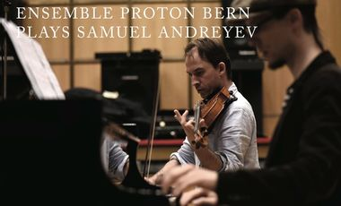 Project visual Ensemble proton bern's CD of music by Samuel Andreyev