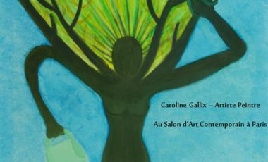 Project visual Caroline Gallix Artiste Peintre au Salon d'Art Contemporain à Paris