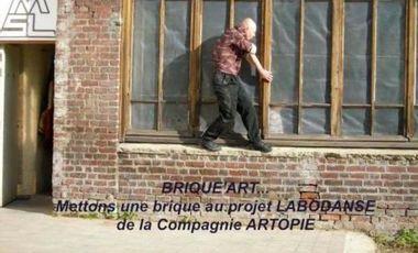 """Visuel du projet """"BRIQUE' ART""""(COMPAGNIE ARTOPIE) mettons une brique au projet Labodanse"""