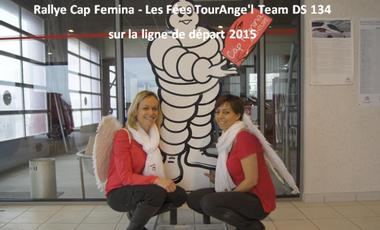 Visuel du projet Rallye Cap Femina - Les Fées TourAnge'l Team DS 134 sur la ligne de départ 2015