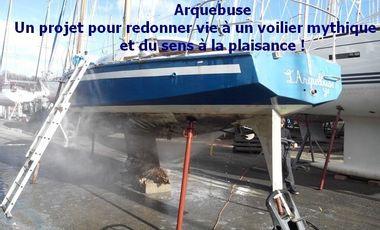 Visueel van project Arquebuse, un projet pour redonner vie à un voilier mythique et du sens à la plaisance