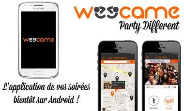 Visueel van project Weecame, l'application qui révolutionne vos soirées !