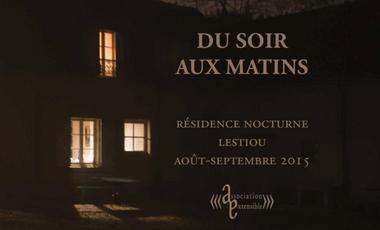 """Visueel van project """"Du soir aux matins"""", Résidence de création artistique"""