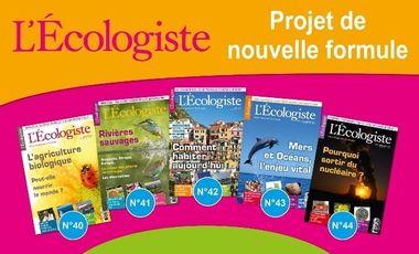 Visuel du projet Une nouvelle formule pour L'Ecologiste, la revue de référence sur l'écologie