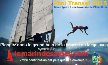 Project visual Mini Transat 2015 - d'une épave à un bateau de course - le marin des Alpes