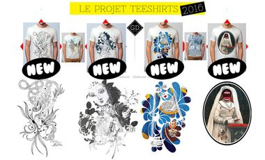 Project visual teeshirt design d'artiste