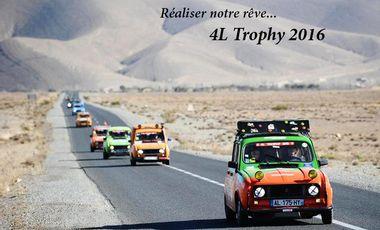 Visueel van project On a besoin de vous pour participer à la course du 4L Trophy !