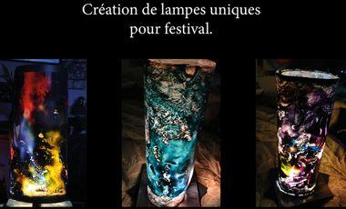 Project visual Création de Lampes uniques pour festival.