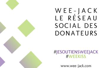 Visueel van project Wee-Jack, le réseau social des donateurs
