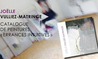 """Visuel du projet Livre d'art """"Errances intuitives"""" - Peintures abstraites"""