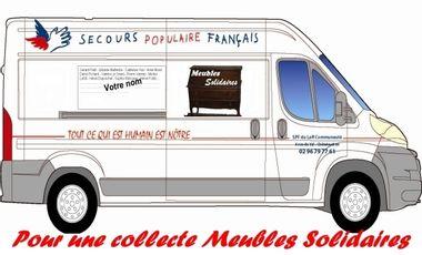 """Visuel du projet Cap sur un véhicule """"Meubles Solidaires"""""""