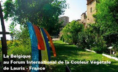 Visueel van project La Belgique au Forum International de la Couleur Végétale de Lauris - France