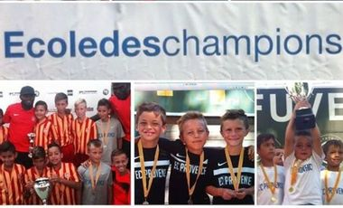 Project visual Stage de Football des petits champions de 5/14 ans