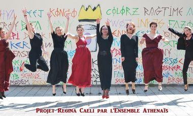 """Visuel du projet Nouveau CD """"REGINA CAELI"""" par l'Ensemble Athénaïs"""