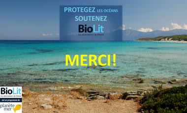 Visueel van project Protégez les océans, soutenez BioLit !