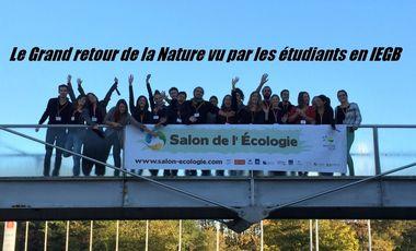 Visueel van project Le Grand Retour de la Nature vu par les étudiants en IEGB.