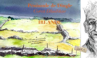 """Project visual Péninsule de Dingle - livre """"itinéraire artistique: dessin+aquarelle"""" IRLANDE"""
