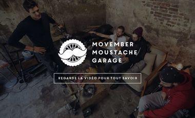 Project visual Movember Moustache Garage