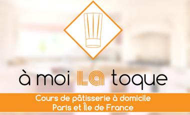 """Visuel du projet """"À moi la toque"""" Cours de pâtisserie à domicile. Paris et Île de France >> www.amoilatoque.fr"""