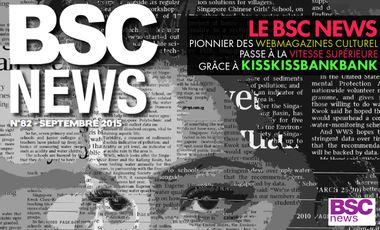 Visueel van project Le BSC NEWS, un webmagazine culturel innovant & indépendant