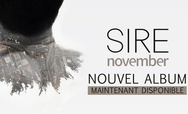 Visueel van project November, le nouvel album de SIRE. 100% pop acoustique virtuelle.