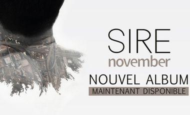 Project visual November, le nouvel album de SIRE. 100% pop acoustique virtuelle.