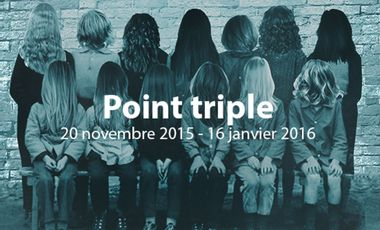 "Visueel van project ""Point triple"" expositions des diplômés de l'isdaT"