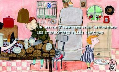 Visueel van project Un jeu de 7 familles pour interroger le concept de la famille et les stéréotypes fille  garçon
