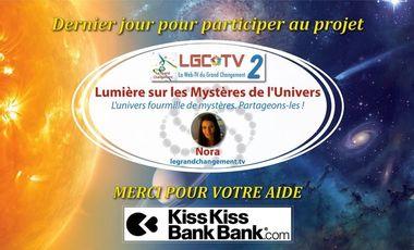 """Visueel van project WEB TV """"Lumière sur les Mystères de l'Univers"""""""
