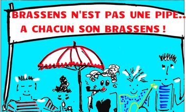 Project visual Brassens n'est pas une pipe, à chacun son Brassens!