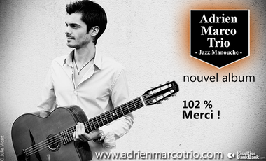 "Visuel du projet Adrien Marco Trio Album ""Voyages"" (2016)"