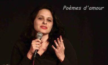 """Project visual """" Poèmes d'amour """"  de Hagit Grossman"""
