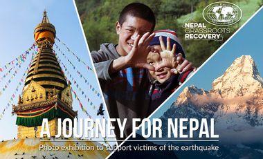 """Visueel van project """"A journey for Nepal"""", l'expo au profit du Népal"""