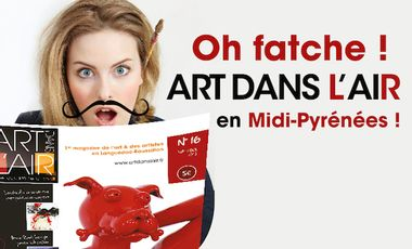 Visuel du projet Art dans l'air, le premier magazine régional des arts plastiques arrive en Midi-Pyrénées
