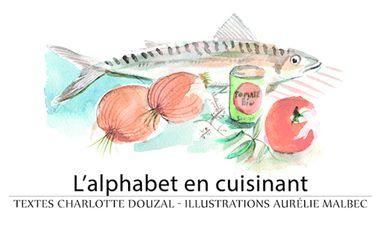 Project visual L'alphabet en cuisinant, livre de recettes illustrées