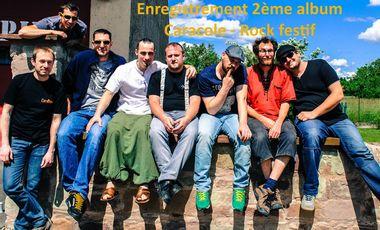 Visueel van project Enregistrement 2ème album Caracole - Rock festif