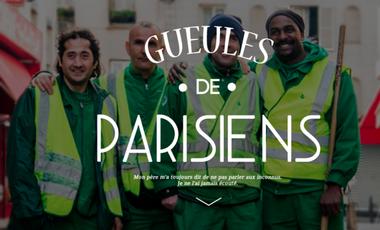 Project visual La Grande Expo Gueules de Parisiens