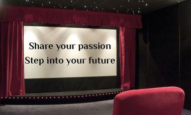 "Project visual Soutenez notre conférence ! ""Share your Passion: Step into your Future"""