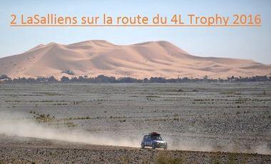 Visueel van project 2 LaSalliens sur la route du 4L Trophy 2016