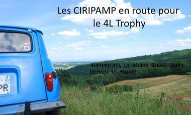 Visueel van project Les CIRIPAMP en route pour le 4L Trophy