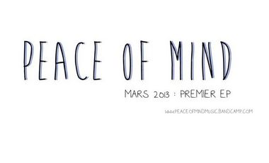 Visueel van project Peace of Mind : participez à la création de leur 1er EP !