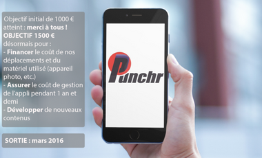 Visueel van project Punchr, l'appli punchy sur l'actualité sportive