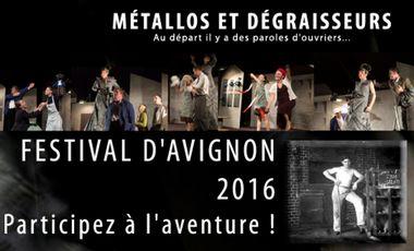Project visual Métallos au Festival d'Avignon 2016