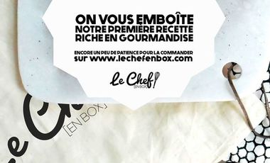 Project visual Le chef en box!