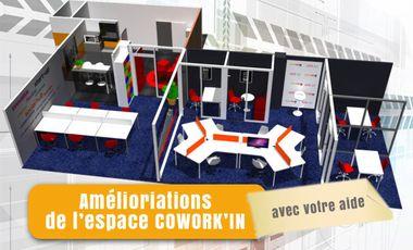 Visueel van project COWORK'IN, l'espace de travail collaboratif à l'écoute des coworkers