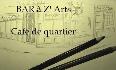 """Visueel van project """"Bar à Z'arts"""" café de quartier"""