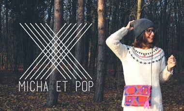 Visueel van project MICHA ET POP, pochettes artisanales et personnalisables